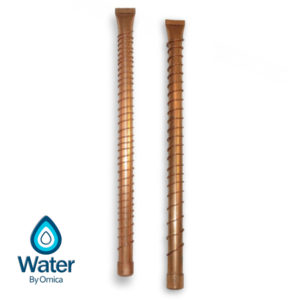 Water By Omica Natural Copper & Shungite Vortex Vibrational Vitalizer Wands High & Low Frequency 2 Pack