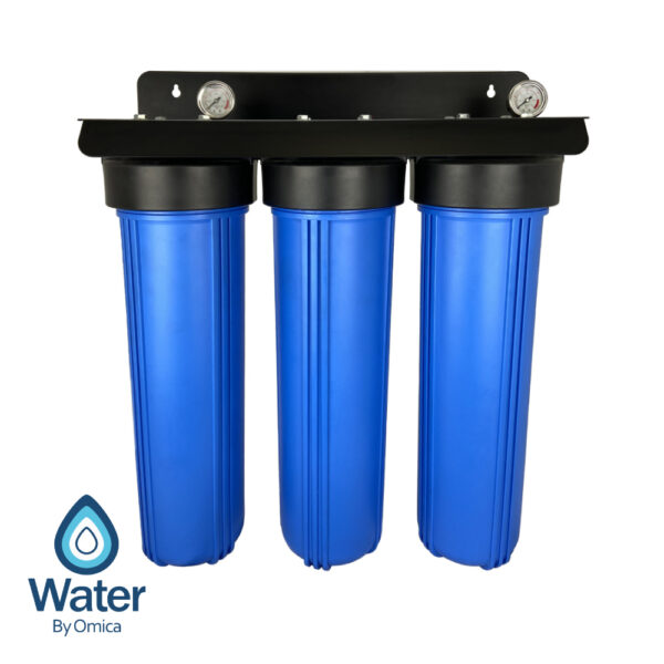Water By Omica Whole House 3-Stage Fluoride Water Filter System