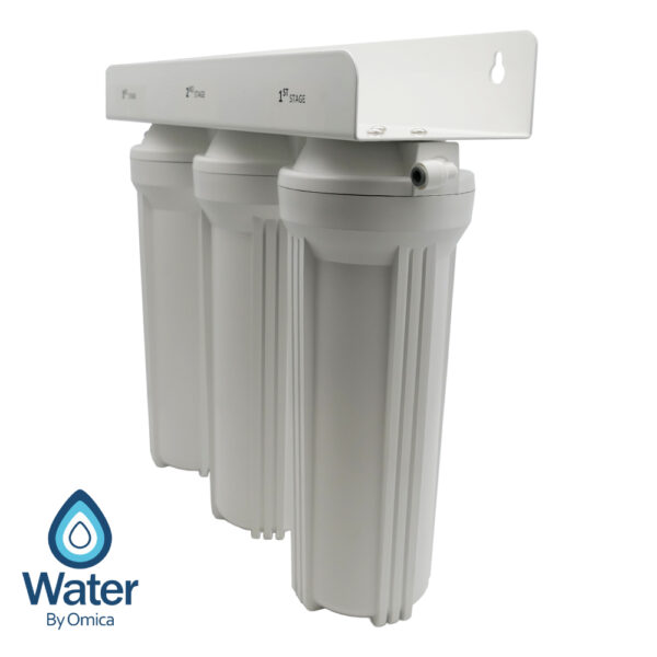Water By Omica 3-Stage Drinking Water Filter System Side View
