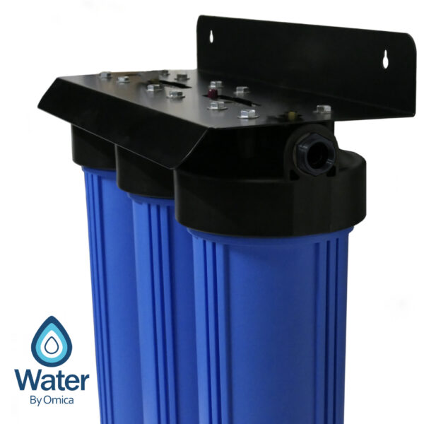 Water By Omica 3-Stage Water Filter System | Side View NO GAUGES