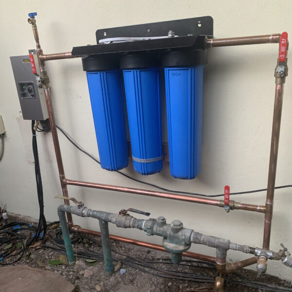 Water By Omica Whole House 3-Stage Water Filter System - Installation 2 - No Gauges